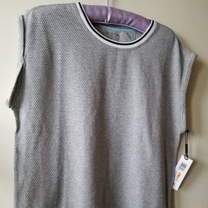 NWT Grey Short Sleeve Performance Stretch Shirt